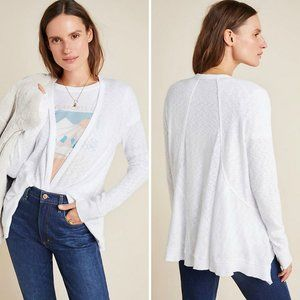Anthropologie Left of Center Tilda White Cardigan